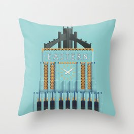 Eastern Columbia Building Los Angeles Art Deco Throw Pillow
