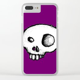 Purple King of Skulls Clear iPhone Case