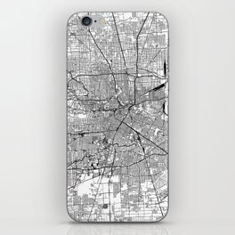 Houston White Map iPhone Skin