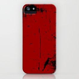 Black Grunge on Red iPhone Case
