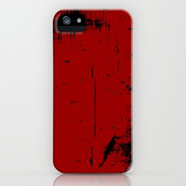 Black Grunge on Red iPhone Case