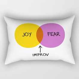 The Venn of Improv (Yellow/Violet) Rectangular Pillow