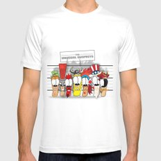 The Unusual Suspects Mens Fitted Tee MEDIUM White