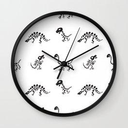 World of Dinosaurs, Skulls and Skeletons Pattern Reverse Wall Clock