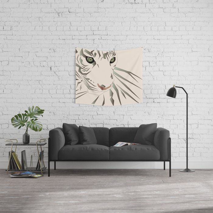 Tiger's Tranquility Wall Tapestry