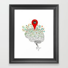 you are all over my Mind Framed Art Print