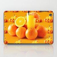 orange pattern iPad Cases featuring Orange Pattern by Azeez Olayinka Gloriousclick