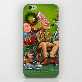 Mama and Papa Brickel on Christmas Eve iPhone Skin