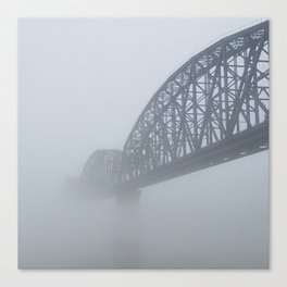 Disappearing Bridge Canvas Print