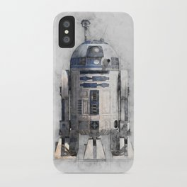 R2D2 from wars star iPhone Case