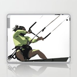 Going With The Wind Kiteboarding Vector Laptop & iPad Skin