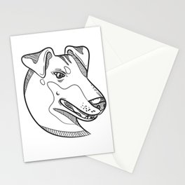 Manchester Terrier Head Drawing Stationery Cards