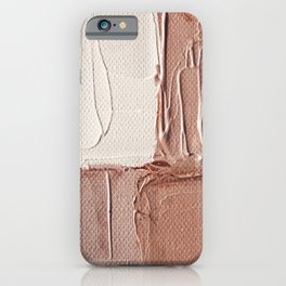 Abstract painting 6 - Caramel Cream iPhone Case