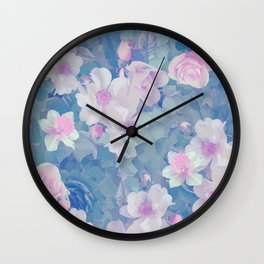 FLORAL MUSIC Wall Clock