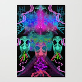 Ghostly Exhalations (ultraviolet) Canvas Print