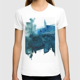 Change: A minimal abstract acrylic painting in blue and green by Alyssa Hamilton Art T-shirt