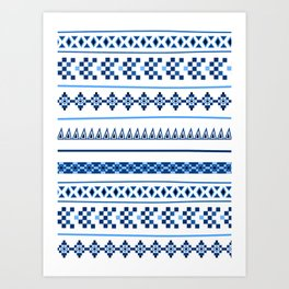 Traditional Influence Pattern I Art Print