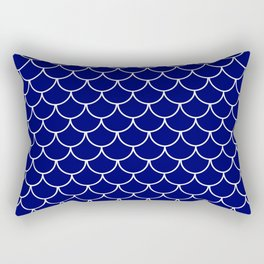 Navy Scales Rectangular Pillow