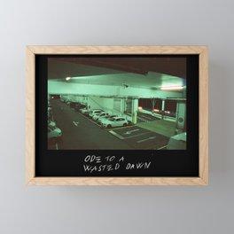 ODE TO A WASTED DAWN Framed Mini Art Print