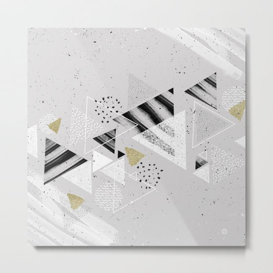 Geometric abstract triangles Metal Print