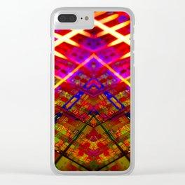 Computer Circuit Board Kaleidoscopic Design Clear iPhone Case