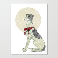 greyhound Canvas Prints featuring GREYHOUND by HOLO-HOLO