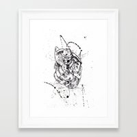 thanos Framed Art Prints featuring Big Thanos by Caos Store