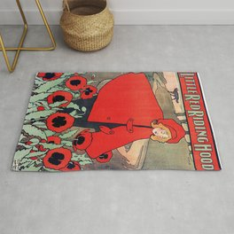 john hassall vintage english poster - Little red riding hood Rug
