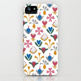 Fantasy Flowers – Bluebell – Scandinavian Folk Art iPhone Case