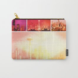 Shades of Red Space Needle Collage Carry-All Pouch