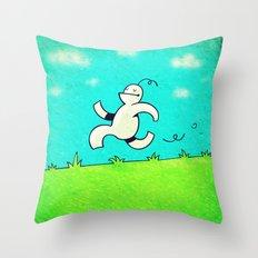 Running... Throw Pillow