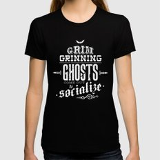 Haunted Mansion - Grim Grinning Ghosts Black Womens Fitted Tee MEDIUM