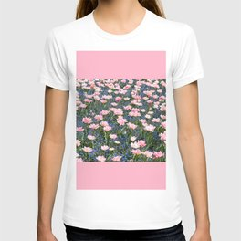 Pink Foxtrot tulips with blue forget-me-nots T-shirt