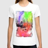 skyline T-shirts featuring Skyline by Fine2art