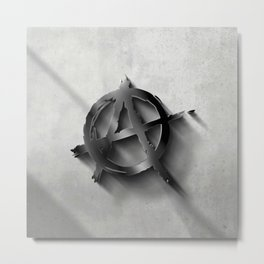 Concrete and Anachy - 3D Sign Metal Print