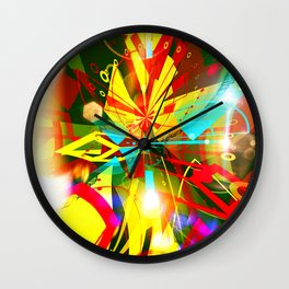 Mystery of golden mask Wall Clock