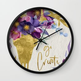 Go Create! Wall Clock