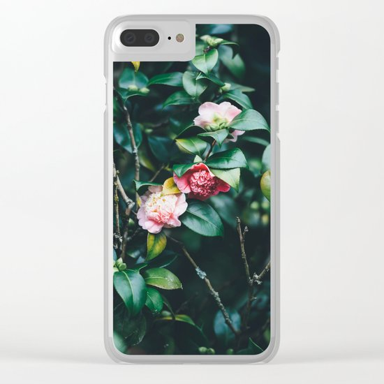 pink and green Clear iPhone Case