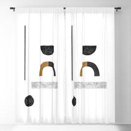 Abstract Geometric III, Modern Artwork Blackout Curtain