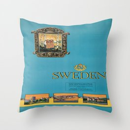 Vintage poster - Sweden Throw Pillow