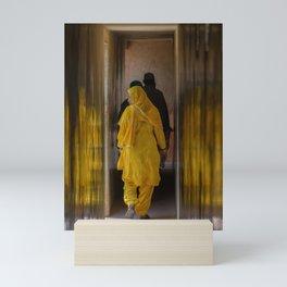 Woman in Yellow Sari Mini Art Print