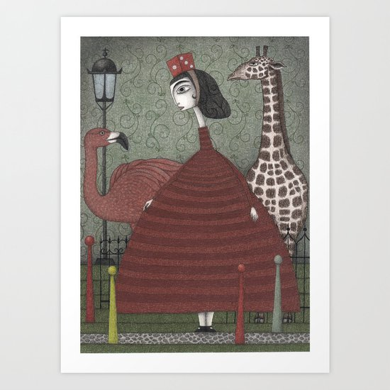 Sunday Excursion to the Zoo Art Print