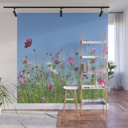 Colorful Cosmos Blue Sky Wall Mural