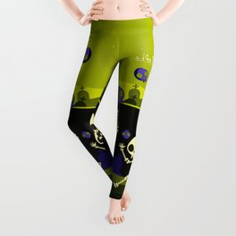 """Don't Stop, Don't Stop The Dance (Halloween Party)"" Leggings"
