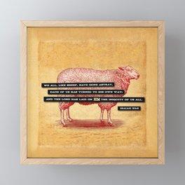 Like Sheep Framed Mini Art Print