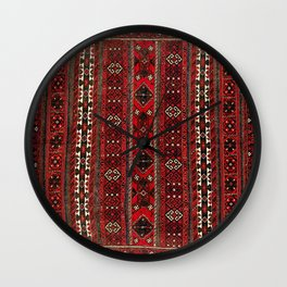 Baluch Flatweave  Antique Afghanistan  Rug Print Wall Clock