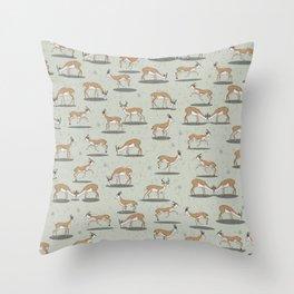 Springbok pattern Throw Pillow