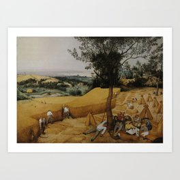 Pieter Bruegel the Elder, The Harvesters Art Print