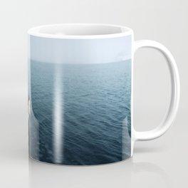 Girl ocean ice mountain Coffee Mug
