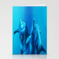 dolphin Stationery Cards featuring Dolphin by Bocese